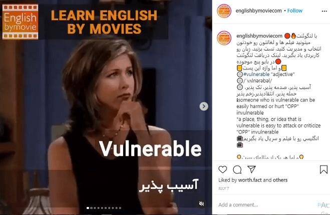 تدریس زبان در اینستاگرام